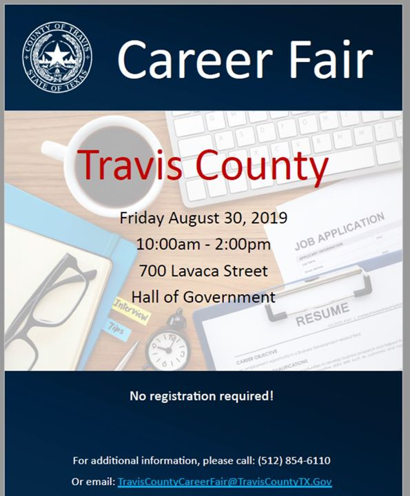 JOB FAIR IN AUSTIN, TEXAS (Friday, August 30th) …